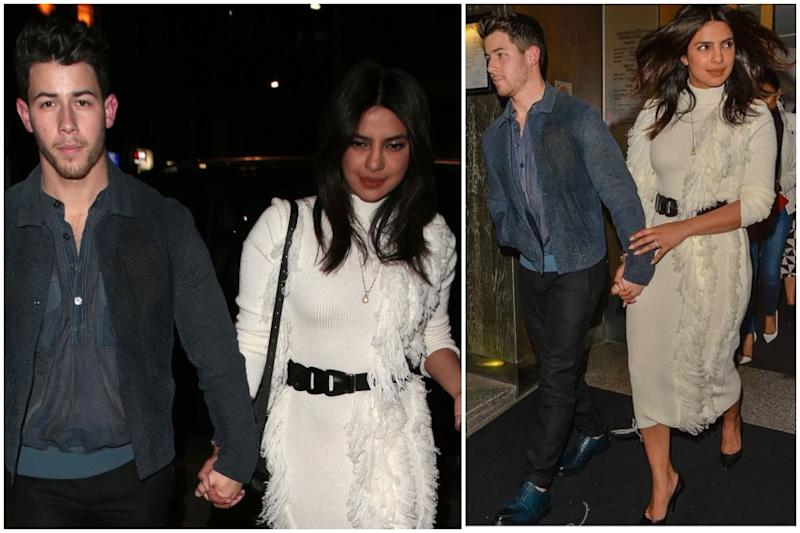 Priyanka Chopra Gives '70s Vibes in Feather Knit Dress for Jonas Brothers Show
