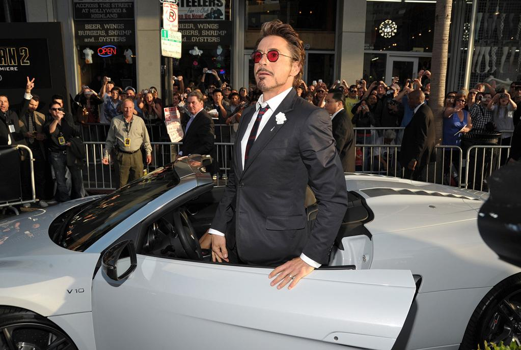 """<a href=""""http://movies.yahoo.com/movie/contributor/1800010914"""">Robert Downey Jr.</a> at the Los Angeles premiere of <a href=""""http://movies.yahoo.com/movie/1810026429/info"""">Iron Man 2</a> - 04/26/2010"""
