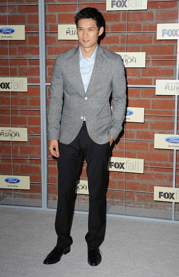 """Harry Shum (""""Glee"""") attends Fox's Fall 2012 Eco-Casino party at The Bookbindery on September 10, 2012 in Culver City, California."""
