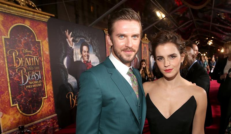 Actors Dan Stevens And Emma Watson