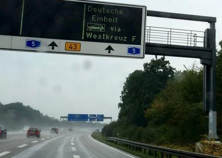 FILE PHOTO: Traffic on an autobahn (motorway) near Frankfurt, Germany