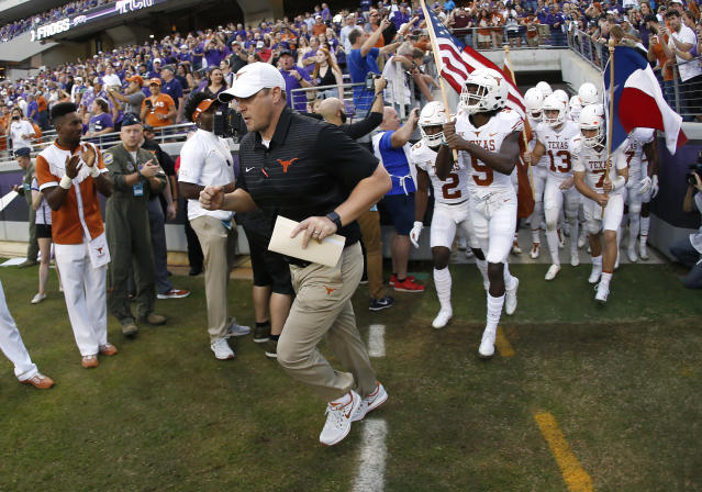 Tom Herman has Texas back in a bowl game in his first season as the Longhorns' head coach. (AP Photo/Ron Jenkins)