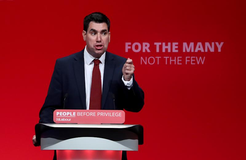 Richard Burgon, Shadow Secretary of State for Justice, delivers his speech during the Labour Party Conference at the Brighton Centre in Brighton.