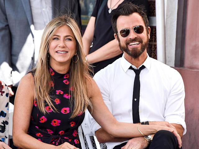 Jennifer Aniston and Justin Theroux attended Jason Bateman's Walk of Fame ceremony in July 2017. (Photo: Splash News)