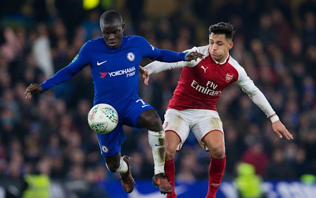 No way through: Arsenal and Chelsea played out a 0-0 draw – with VAR the main talking point after