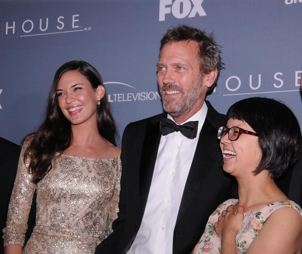 "Odette Annable, Hugh Laurie, and Charlyne Yi arrive at the ""<a target=""_blank"" href=""http://tv.yahoo.com/house/show/36106"">House</a>"" Series Finale Wrap Party on Friday, April 20, 2012 at Cicada in downtown Los Angeles, California."