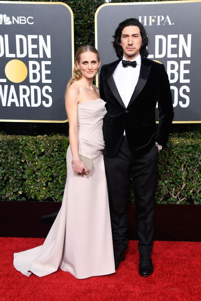<p>Joanne Tucker and Adam Driver attend the 76th Annual Golden Globe Awards at the Beverly Hilton Hotel in Beverly Hills, Calif., on Jan. 6, 2019. (Photo: Getty Images) </p>