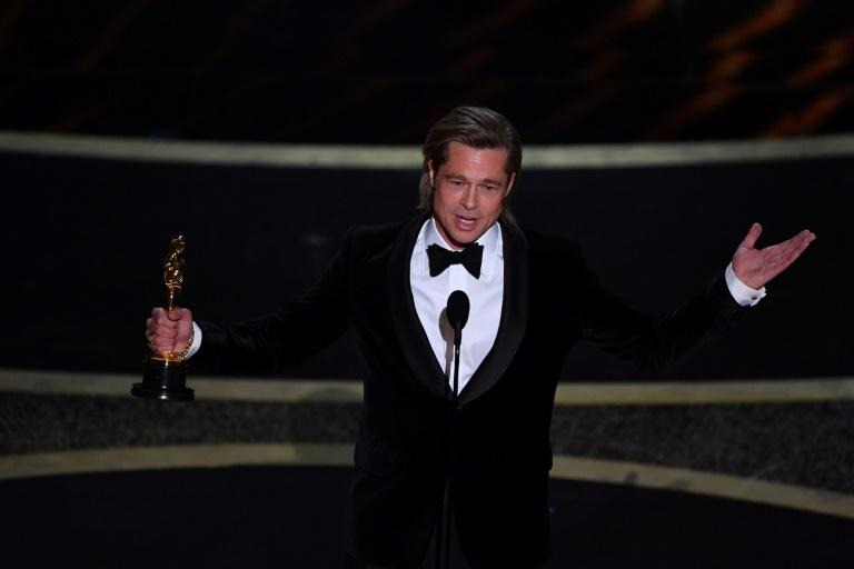 """Brad Pitt won the Oscar for best supporting actor for """"Once Upon a Time... in Hollywood"""""""