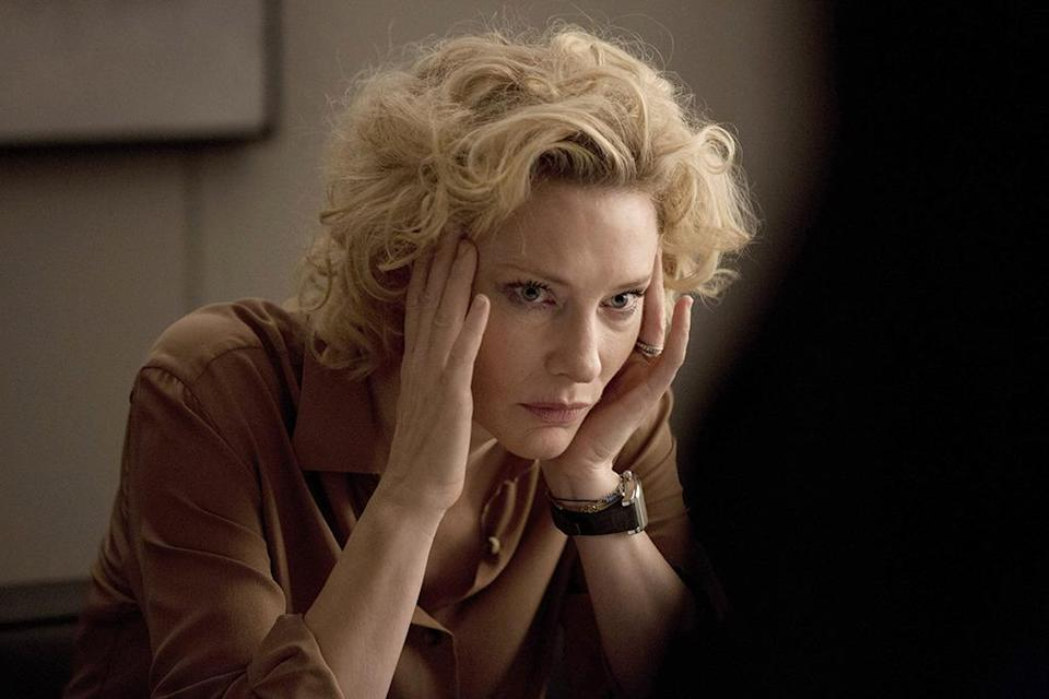 """<p>Blanchett will no doubt be nominated for Best Supporting Actress for her quietly affecting work in <i>Carol,</i> but the truth of the matter is she deserves two nods this year. She is phenomenal as Mary Mapes, the news producer whose career went down in flames with the scandal that cost <i>CBS News</i> anchor Dan Rather his job. Few cinematic moments were as powerful this year as the one in which a desperate, teary Mapes begs her disapproving father, """"Daddy, please stop.""""</p>"""