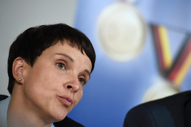 Leader of the Alternative for Germany (AfD) party Frauke Petry attends a press conference in Berlin on September 5, 2016 (AFP Photo/Odd Andersen)