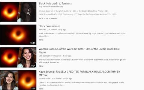 Videos that aimed to discredit Dr Bouman are still available on YouTube - Credit: YouTube