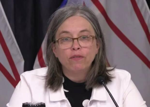 Chief Medical Officer of Health Dr. Janice Fitzgerald says 'the end of the COVID marathon is in sight.' Newfoundland and Labrador is reporting no new cases on Wednesday.  (Government of Newfoundland and Labrador - image credit)