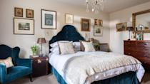 """<p>Tucked away at the end of a steep country lane, <a href=""""https://boutique-retreats.co.uk/luxury-cottages-devon/chagford/thornworthy%20barn-231.html"""" rel=""""nofollow noopener"""" target=""""_blank"""" data-ylk=""""slk:Thornworthy Barn"""" class=""""link rapid-noclick-resp"""">Thornworthy Barn</a> is ideally situated for exploring Dartmoor's dramatic, and sometimes desolate, beauty. Just a 10-minute drive from the town of Chagford, the barn is part of an estate that dates back to 1840, and the sprawling grounds boast a tennis court, kitchen garden, croquet lawn, duck pond and a cosy roundhouse with a wood-burner – the perfect place to enjoy a drink while admiring views of the moors.</p><p>The barn itself has been beautifully restored, and from the moment you arrive its peaceful ambiance draws you in: classical music plays softly, the fire crackles and the scent of bay and rosemary candles fills the air. The owners are interior designers and their style is reflected in the exceptionally chic decor, where even the smallest details have been carefully considered – from the champagne that awaits your arrival to the juniper berries and limes beside the complimentary gin.</p><p>In the bedrooms, the king-size beds are spread with luxurious French linen and plump cushions, and unique artwork hangs from the walls; in the gleaming bathroom is a freestanding roll-top bath that's a joy to sink into after a long walk. We may not have the guarantee of good weather in Devon, but at Thornworthy Barn, swirling mists or rain only add to its appeal: simply draw the thick curtains, turn up the lamps, stoke the log burner, and curl up on the soft velvet sofa.</p>"""