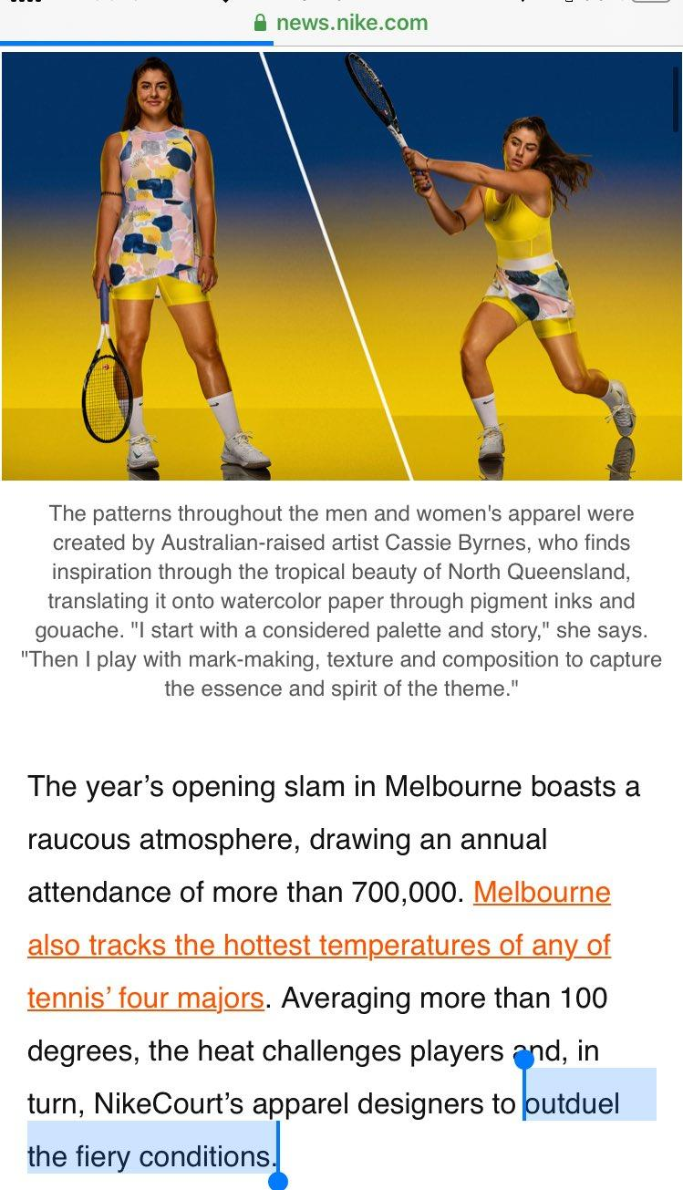 The gaffe in Nike's Australian Open ad, pictured here on their website.