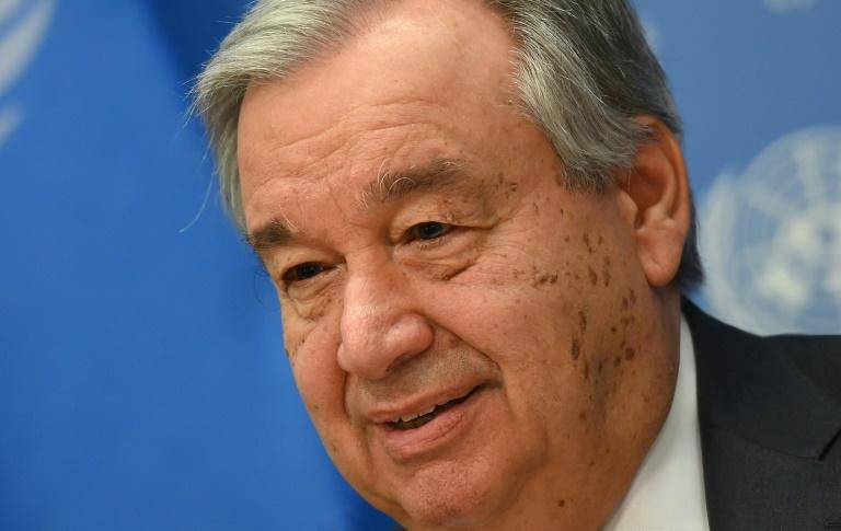 """United Nations Secretary General Antonio Guterres called for countries to """"put armed conflict on lockdown and focus together on the true fight of our lives"""" (AFP Photo/Angela Weiss)"""