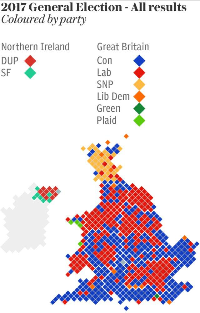 General Election Gains Map