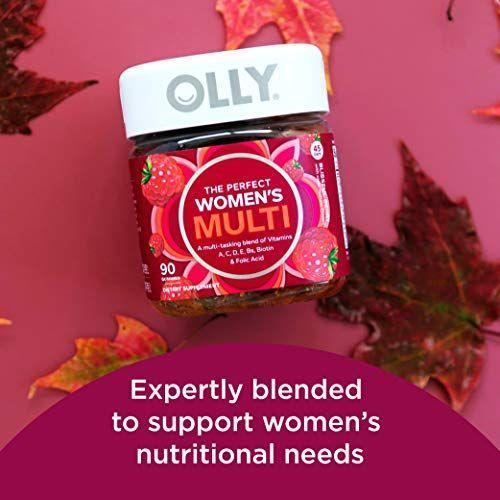 """<p><strong>Olly</strong></p><p>Amazon</p><p><strong>$23.85</strong></p><p><a href=""""http://www.amazon.com/dp/B014G4AY1A/?tag=syn-yahoo-20&ascsubtag=%5Bartid%7C10070.g.3065%5Bsrc%7Cyahoo-us"""" rel=""""nofollow noopener"""" target=""""_blank"""" data-ylk=""""slk:SHOP NOW"""" class=""""link rapid-noclick-resp"""">SHOP NOW</a></p><p>The Olly multivitamin delivers a daily dose of 18 essential nutrients, which includes the B vitamins, antioxidants, vitamin D, and calcium. This gummy vitamin also features a blend of vitamins A, C, and E, as well as biotin and folic acid to support energy and bone health, DeFazio explains. """"To get your daily dose, all you have to do is put one into your mouth and chew, making it an easy choice for adults and kids alike who dislike swallowing large pills,"""" she adds.</p>"""