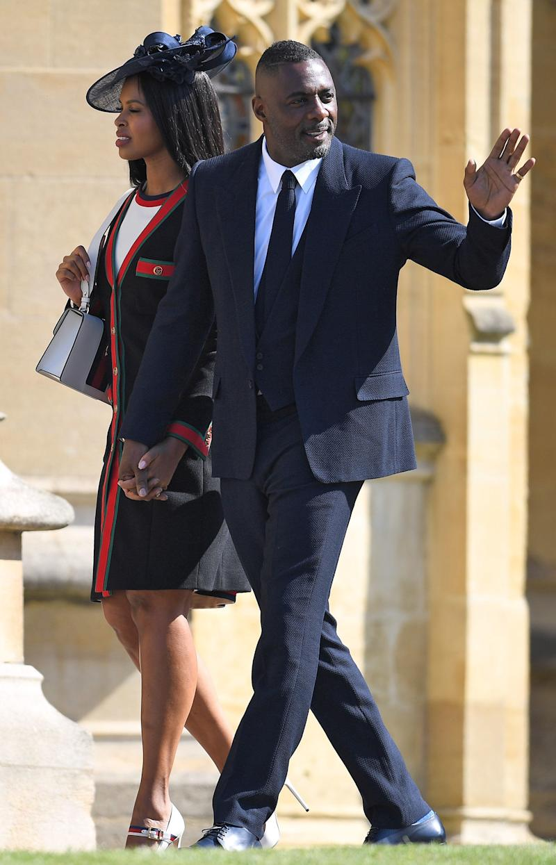'Luther' star Idris was the first star to be photographed in Windsor on the morning of the ceremony, signalling how high the callibre of celebs on the invite list really was.