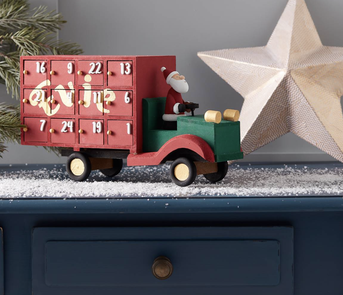 "<p><a class=""body-btn-link"" href=""https://go.redirectingat.com?id=127X1599956&url=https%3A%2F%2Fwww.hobbycraft.co.uk%2Fchristmas%2Fchristmas-decorations%2Fadvent-calendars&sref=http%3A%2F%2Fwww.housebeautiful.com%2Fuk%2Flifestyle%2Fg28961031%2Fhobbycraft-christmas-craft-trends%2F"" target=""_blank"">BUY NOW</a> <strong>Advent calendars</strong></p><p>Sales in alternative ways to countdown to Christmas have rocketed. Get customising with new styles, including wooden blanks that can be completely personalised, cardboard fillables and advent garlands.</p><p>The wooden blanks, like this Christmas truck, is so cute – get creative with the paints and glitter and personalise it until your heart's content. Fill the drawers with little goodies you've chosen. </p>"