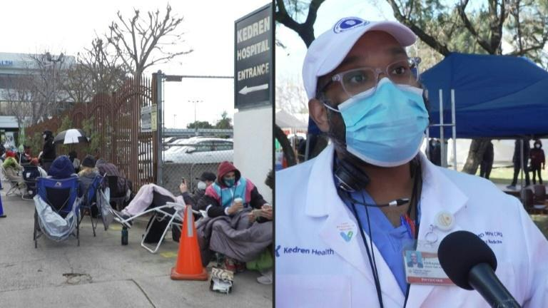 Large crowds of mostly young people have shown up in front of vaccine centers across Los Angeles, hoping for a jab