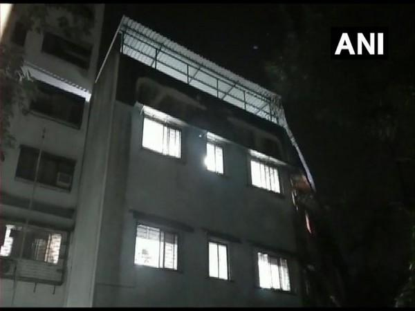 A visual from the fire incident in hospital in Mulund, Mumbai