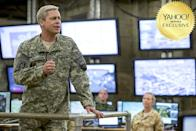 """<p><a rel=""""nofollow"""" href=""""https://www.yahoo.com/movies/tagged/brad-pitt"""" data-ylk=""""slk:Brad Pitt"""" class=""""link rapid-noclick-resp"""">Brad Pitt</a> plays a U.S. general bent on personally saving Afghanistan in this dark comedy from <a rel=""""nofollow"""" href=""""https://www.yahoo.com/movies/film/animal-kingdom"""" data-ylk=""""slk:Animal Kingdom"""" class=""""link rapid-noclick-resp""""><em>Animal Kingdom</em></a> director <a rel=""""nofollow"""" href=""""https://www.yahoo.com/movies/tagged/david-michod"""" data-ylk=""""slk:David Michôd"""" class=""""link rapid-noclick-resp"""">David Michôd</a>. Look for this one, with its clear absurdist take on the perils of military operations, to appeal to fans of <a rel=""""nofollow"""" href=""""https://www.yahoo.com/movies/film/three-kings"""" data-ylk=""""slk:Three Kings"""" class=""""link rapid-noclick-resp""""><em>Three Kings</em></a>, that '99 gem starring Pitt's bro, <a rel=""""nofollow"""" href=""""https://www.yahoo.com/movies/tagged/george-clooney"""" data-ylk=""""slk:George Clooney"""" class=""""link rapid-noclick-resp"""">George Clooney</a>. 