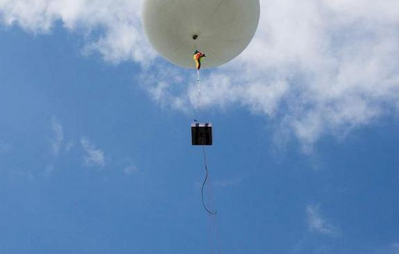 A quantum experiment built by Singapore's Centre for Quantum Technologies had a test launch aboard a weather balloon on May 18, 2012.