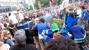 The riot tore through downtown Vancouver after the Canucks lost Game 7 in the Stanley Cup final on June 15 against the Boston Bruins. Hundreds of people spent hours torching cars, smashing windows and looting stores in the downtown core, causing millions of dollars in damage.