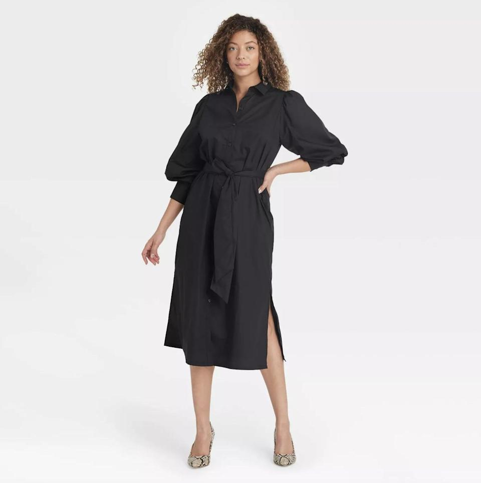 <p>You'll look put-together with minimal effort in this <span>A New Day Sleeve High Cuff Shirtdress</span> ($28).</p>