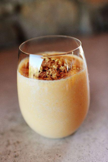 """<p>Do you have leftover pumpkin puree from all your holiday baking? Add it to a smoothie—pumpkin is packed with immunity-boosting vitamins and antioxidants! Make it even healthier by using unsweetened pumpkin puree, nonfat plain yogurt, and the sweetener of your choice—then, swap the graham cracker topping for crunchy granola.</p><p><strong><a href=""""https://www.thepioneerwoman.com/food-cooking/recipes/a10387/pumpkin-smoothie/"""" rel=""""nofollow noopener"""" target=""""_blank"""" data-ylk=""""slk:Get the recipe."""" class=""""link rapid-noclick-resp"""">Get the recipe.</a></strong></p><p><strong><a class=""""link rapid-noclick-resp"""" href=""""https://go.redirectingat.com?id=74968X1596630&url=https%3A%2F%2Fwww.walmart.com%2Fsearch%2F%3Fquery%3Dpioneer%2Bwoman%2Bglasses&sref=https%3A%2F%2Fwww.thepioneerwoman.com%2Ffood-cooking%2Fmeals-menus%2Fg34922086%2Fhealthy-breakfast-ideas%2F"""" rel=""""nofollow noopener"""" target=""""_blank"""" data-ylk=""""slk:SHOP GLASSES"""">SHOP GLASSES</a><br></strong></p>"""