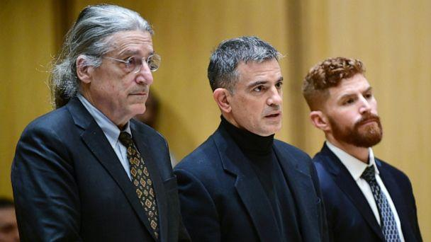PHOTO: Fotis Dulos, center, and his attorneys Norm Pattis, left and Chris La Tronica appear for a probable cause hearing in Stamford Superior Court, Jan. 23, 2020, in Stamford, Conn. (Erik Trautmann/Hearst Connecticut Media via AP, FILE)