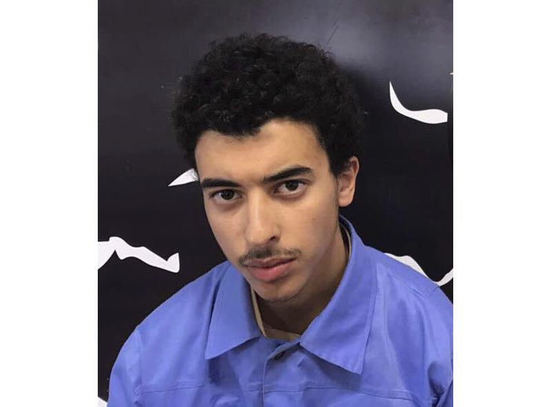 Undated photo issued Wednesday July 17, 2019, by Force for Deterrence in Libya, showing Hashem Abedi, the brother of Manchester Arena bomber Salman Abedi.  British police said Wednesday that Hashem Abedi, a key suspect in the 2017 Manchester Arena bombing that killed 22 people, has been arrested at a London airport after being extradited from Libya. (Force for Deterrence in Libya via AP)