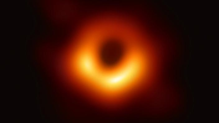 Looking at old data, scientists can say that the light region in the ring is moving