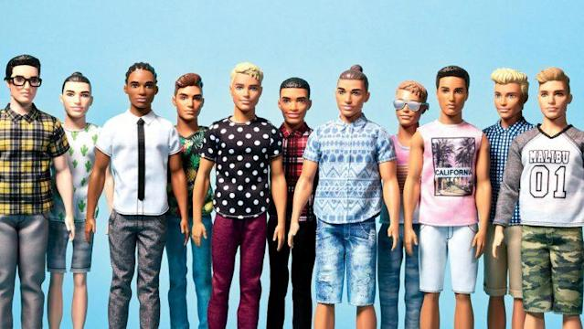 Barbie is releasing new Ken dolls, equipped with dad-bods and man-buns. <br>(Photo: Mattel/twitter)