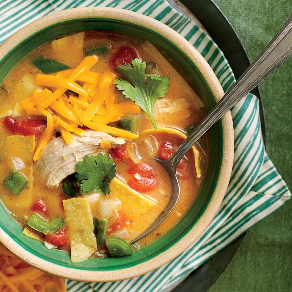"<p>This restaurant-style Tex-Mex dish is both rich and a cinch to prepare.</p> <p><a href=""https://www.myrecipes.com/recipe/king-ranch-chicken-soup"">King Ranch Chicken Soup Recipe</a></p>"