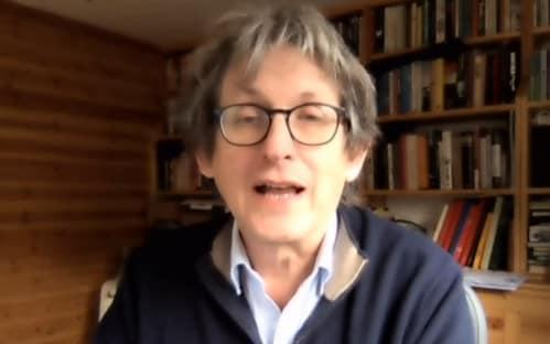 Alan Rusbridger speaking at the House of Lords Communications and Digital Committee