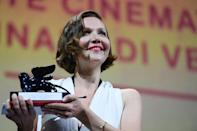 """Gyllenhaal adapted a novel by Italian bestseller Elena Ferrante, and described her as """"breaking the agreement"""" that women must remain silent. (AFP/Filippo MONTEFORTE)"""