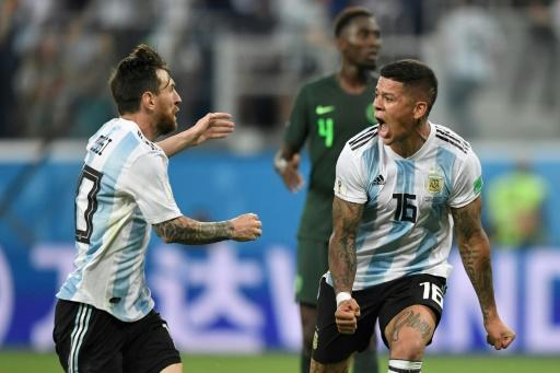 Marcos Rojo's magnificent side-footed volley rescued Argentina's World Cup dreams, but they next face France
