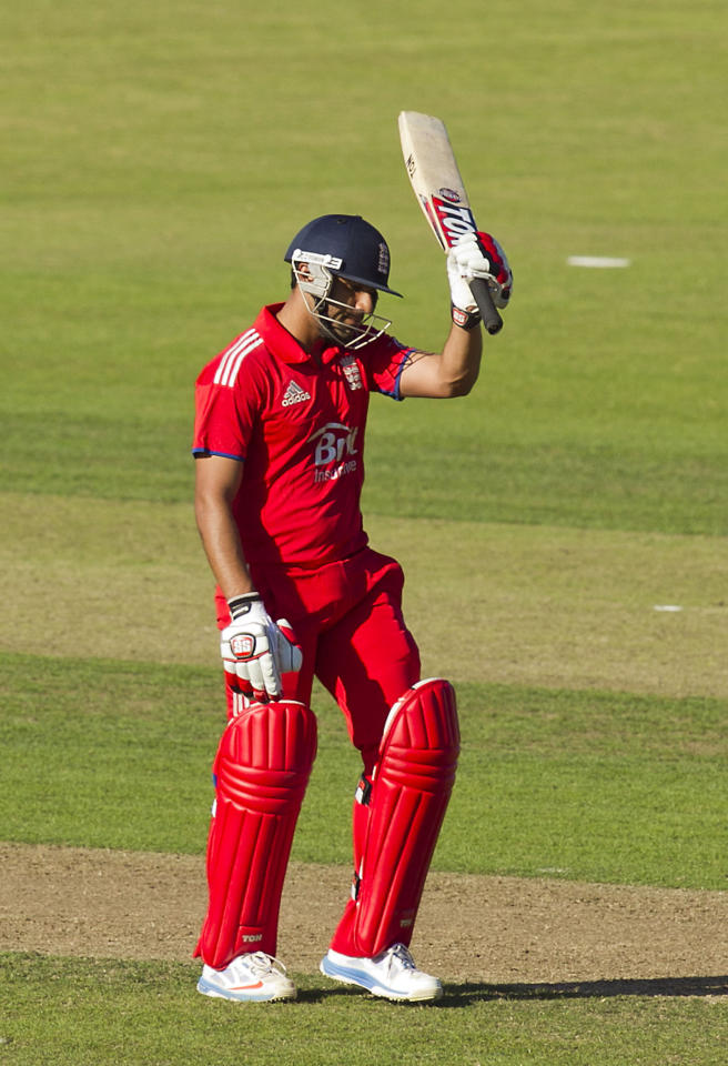 England's Ravi Bopara during the One Day International at The Village, Dublin.