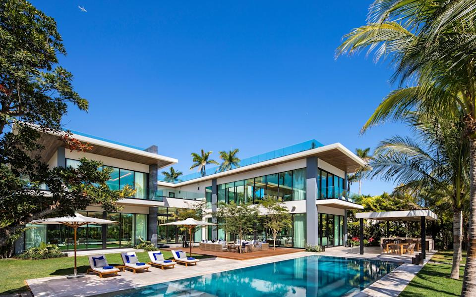 A palatial private residence on Miami Beach's barrier islands that interior designer Nicola Fontanella of Argent Design, has worked on - Paul Stoppi