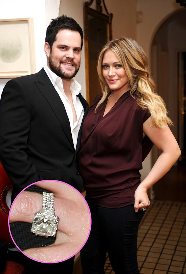 the biggest engagement rings in hollywood - Hilary Duff Wedding Ring