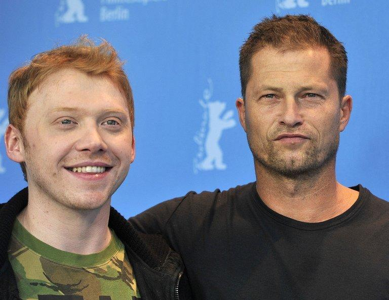"British actor Rupert Grint (L) and German actor Til Schweiger (R) pose at a photocall for the film ""The Necessary Death of Charlie Countryman"" during the 63rd Berlinale Film Festival in Berlin on February 9, 2013. The film drew savage reviews after screening at last month's Sundance festival but appeared to win over the more international audience in Berlin, where it drew enthusiastic applause"