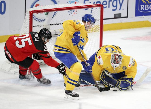 Lias Andersson finished tops on Sweden and tied for second in the tournament with 5 goals (Getty Images).