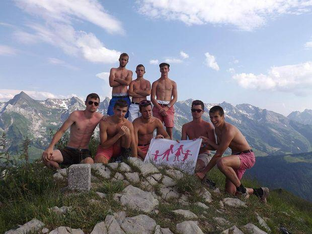 The World's Most Homoerotic Homophobes Are Now Mounting a Giant Pole in Tiny Pink Shorts