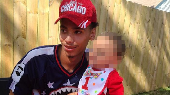 Daunte Wright, image alterted to protect a minor by Yahoo News (via Facebook)