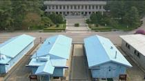 A view of the truce village of Panmunjom ahead of the inter-Korean summit, in this still frame taken from video, April 27, 2018. Host Broadcaster via REUTERS TV