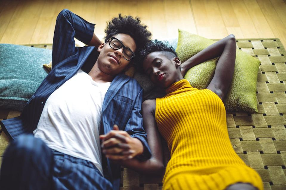 <p>Sometimes there's nothing more soothing as a couple than to simply dream together. Spend the night igniting your imaginations and sharing your wishes for the future. By the end of the conversation, you're bound to be bursting with excitement and inspiration.</p>