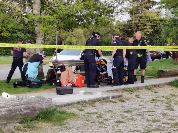A 17-year-old was left with life-changing injuries after being assaulted in Ambleside Park in May 2020. (Clare Hennig/CBC - image credit)
