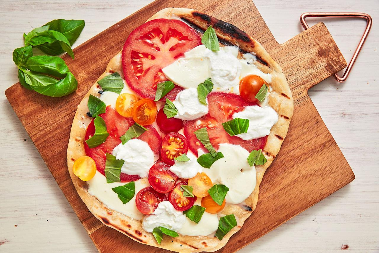 "<p>These grilled pizza recipes are what we want to be eating for dinner all week long. From Margherita to corn-topped to dessert pizza, there's something for every mood. For more outdoor cooking ideas, check out our favorite <a href=""https://www.delish.com/cooking/recipe-ideas/g3429/weeknight-dinners-on-the-grill/"" target=""_blank"">grilled dinners</a>.</p>"