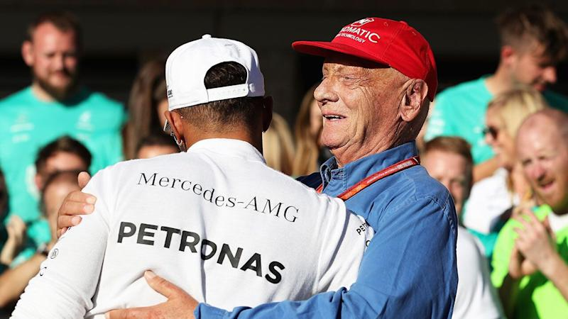 Hamilton and Lauda became very close during their time at Mercedes. Pic: Getty